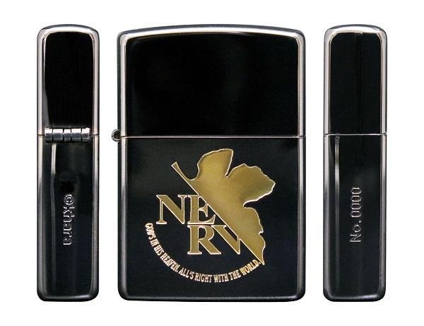 エヴァ最新ジッポ登場 エヴァンゲリオン ZIPPO NERV 品質保証 実物 GOLD BLACK