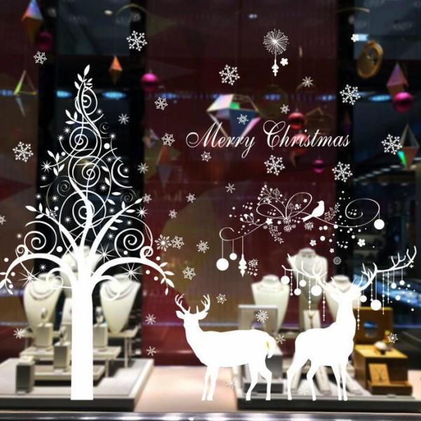 おしゃれなクリスマスのウォールステッカー サンタクロース 2枚 トナカイ達 ランキング総合1位 Merry CHRISTMAS 飾り付け 会社 病院 キッズ ボール 派手 華やか 初回限定 店舗 はがせる 教室 屋外 インパクト ウォールステッカー クリスマス おしゃれ クリスマスツリー ウィンドウ ガラス サンタ トナカイ デコレーション ホワイト 壁 diy 雪の結晶 壁紙 かわいい 特大 鹿 雪 ガーランド オーナメント かざり 冬 大きい 壁シール 北欧 ヘラジカ シンプル 飾り 店 星 装飾 雪だるま 窓