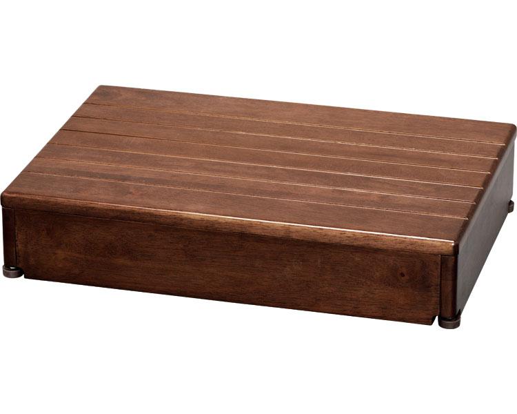 安寿 木製玄関台 1段タイプ 60W-40-1段 / 535-580 ブラウン アロン化成 1台 JAN4970210396797