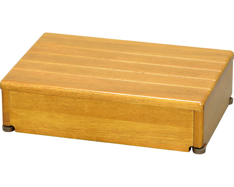 安寿 木製玄関台 1段タイプ 45W-30-1段 / 535-546 ライトブラウン アロン化成 1台