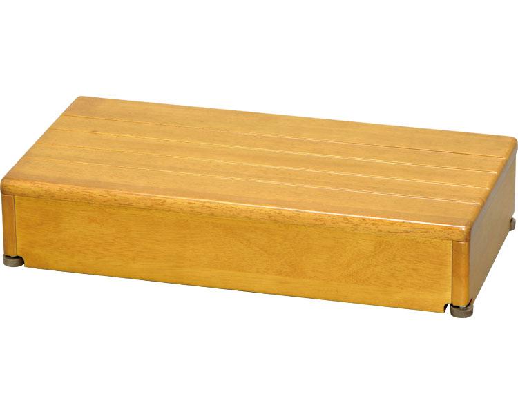 安寿 木製玄関台 1段タイプ 60W-30-1段 / 535-566 ライトブラウン アロン化成 1台 JAN4970210397572