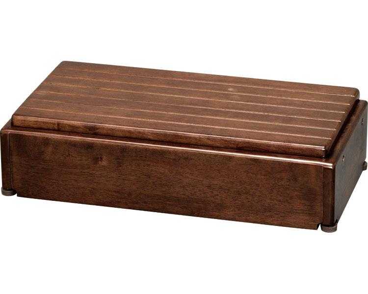 安寿 木製玄関台 高さ調整タイプ S60W-30-1段 / 535-574 ブラウン アロン化成 1台 JAN4970210397602