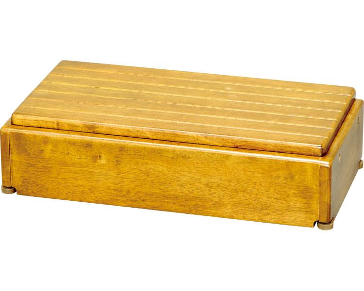 安寿 木製玄関台 高さ調整タイプ S60W-30-1段 / 535-576 ライトブラウン アロン化成 1台 JAN4970210397619