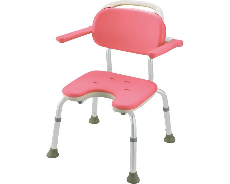 やわらかシャワーチェア U型肘掛付コンパクト / 49441 ピンク リッチェル 1台 JAN4973655494417