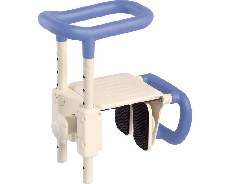 安寿 高さ調節付浴槽手すり UST-165W / 536-611 ブルー アロン化成 1台