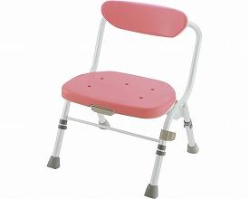 折りたたみシャワーチェア R型 背付 / 47981 ピンク リッチェル 1台