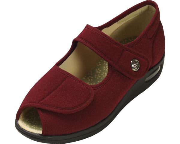 彩彩~ちりめん~ W1103 婦人用 / 26.0cm あずき マリアンヌ製靴 1足 JAN4534378205942