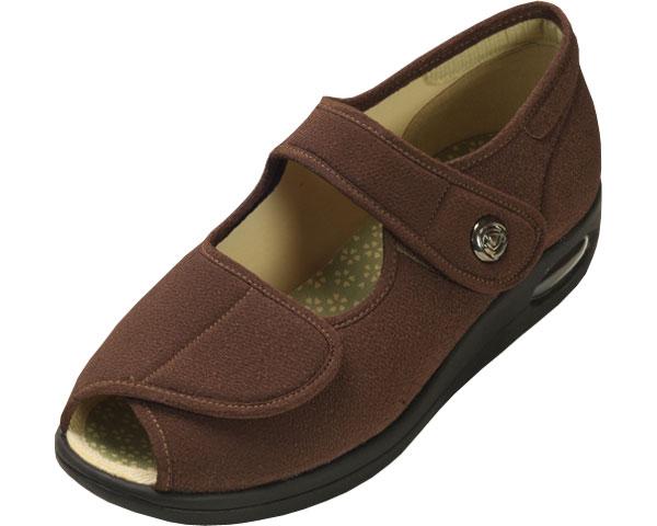 彩彩~ちりめん~ W1103 婦人用 / 24.5cm ブラウン マリアンヌ製靴 1足 JAN4534378205676