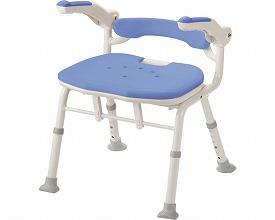 安寿 折りたたみシャワーベンチ ISフィット 骨盤サポートタイプ / 536-116 ブルー アロン化成 1台 JAN4970210832080