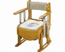 木製トイレ きらく座優 肘掛昇降 / 18670 普通便座 リッチェル 1台 JAN4973655186701
