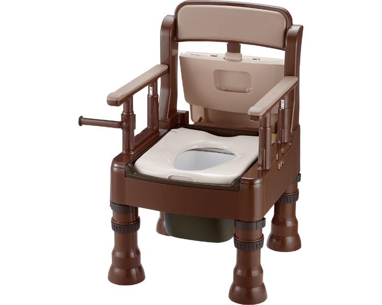 ポータブルトイレ きらく ミニでか / 45603 標準タイプ MS型 ダークブラウン リッチェル 1台 JAN4973655456033