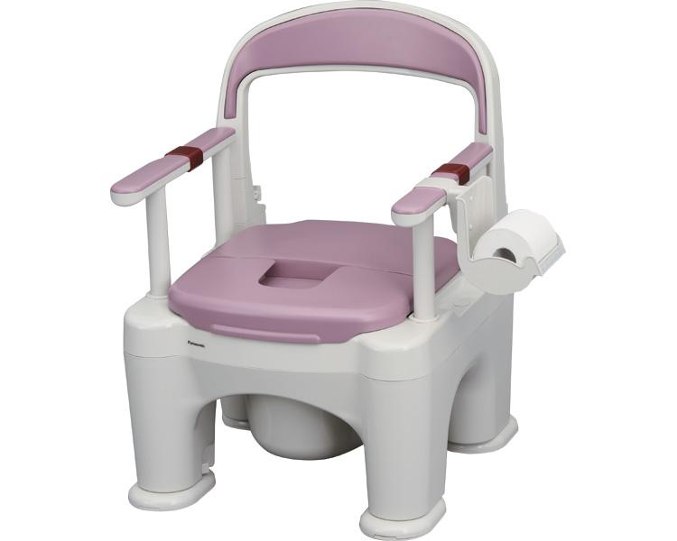 ポータブルトイレ 〈座楽〉ラフィーネ / PN-L30201V 標準タイプ(プラスチック便座) 傾斜脚付き ミスティパープル パナソニック エイジフリー 1台 JAN4549077173836
