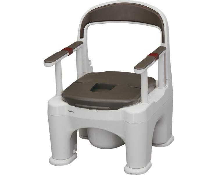 ポータブルトイレ 〈座楽〉ラフィーネ / PN-L30211B 脱臭プラスチック便座タイプ 傾斜脚付き モカブラウン パナソニック エイジフリーライフテック 1台 JAN4549077173904