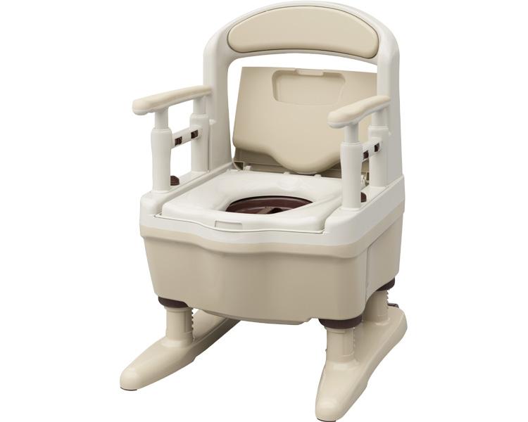 安寿 ポータブルトイレ ジャスピタ / 533-923 標準・快適脱臭 ベージュ アロン化成 1台 JAN4970210850688