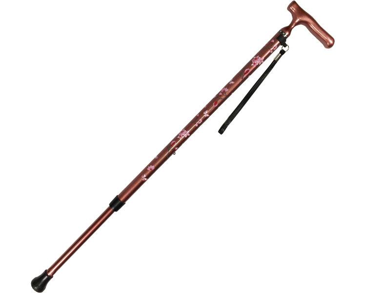 オールカーボン伸縮ステッキSP / 45C-C1 桜柄ローズピンク 島製作所 1本