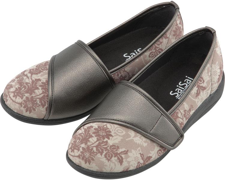 SaiSai~フラワープリント~ W940 婦人用 / 24.5cm クラシックベージュ マリアンヌ製靴 1足 JAN4534378227883