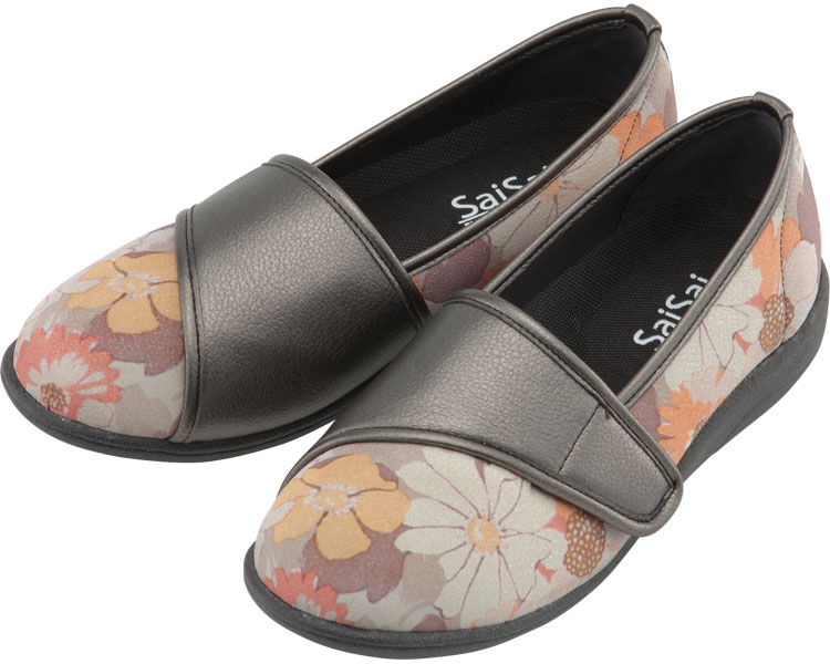 SaiSai~フラワープリント~ W940 婦人用 / 21.5cm フルールオレンジ マリアンヌ製靴 1足 JAN4534378226381