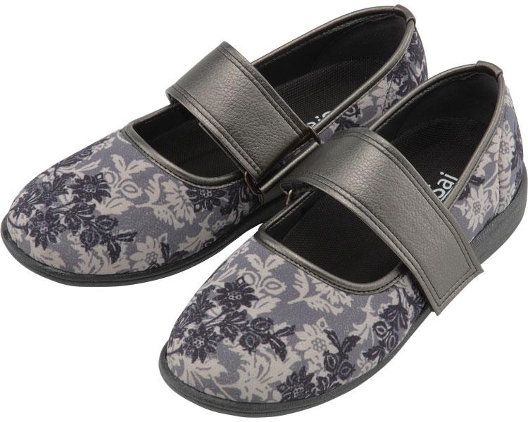 SaiSai~フラワープリント~ W941 婦人用 / 24.5cm クラシックブラック マリアンヌ製靴 1足 JAN4534378228002