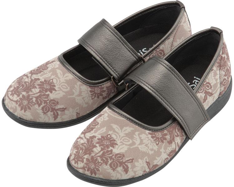 SaiSai~フラワープリント~ W941 婦人用 / 25.0cm クラシックベージュ マリアンヌ製靴 1足 JAN4534378228132
