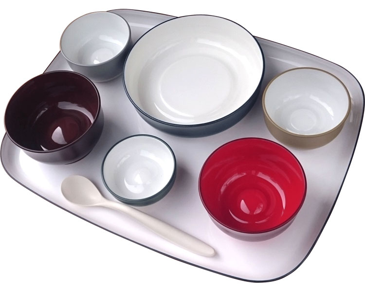 五感で楽しむ自立支援食器IROHA オリジナル色 / iroha01 フルセット 大成樹脂工業 1セット