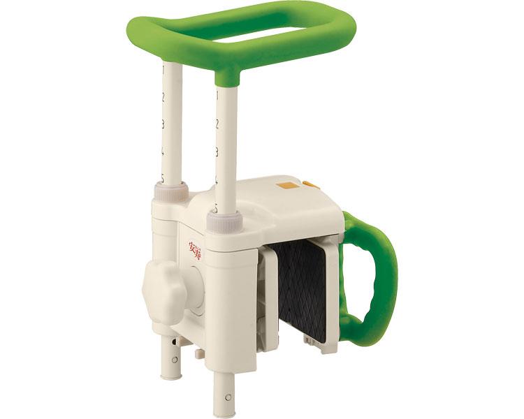 安寿 高さ調節付浴槽手すり UST-130N / 536-618 グリーン アロン化成 1台 JAN4970210857717