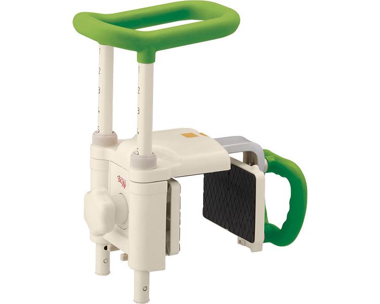 安寿 高さ調節付浴槽手すり UST-200N / 536-619 グリーン アロン化成 1台 JAN4970210857724