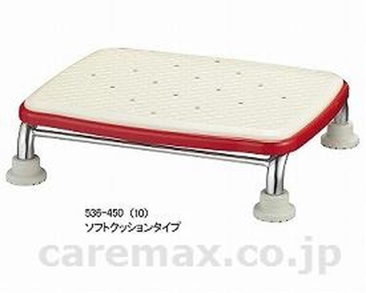 """安寿 ステンレス製浴槽台R""""あしぴた""""標準 ソフトクッションタイプ10 / 536-450 レッド アロン化成 1台 JAN4970210462119"""