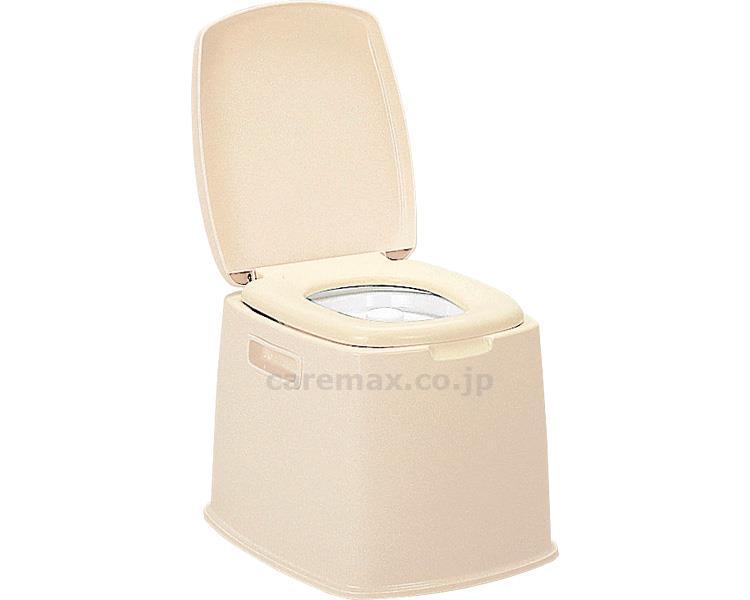 ポータブルトイレ S型 / ベージュ 新輝合成 1台 JAN4973221074272
