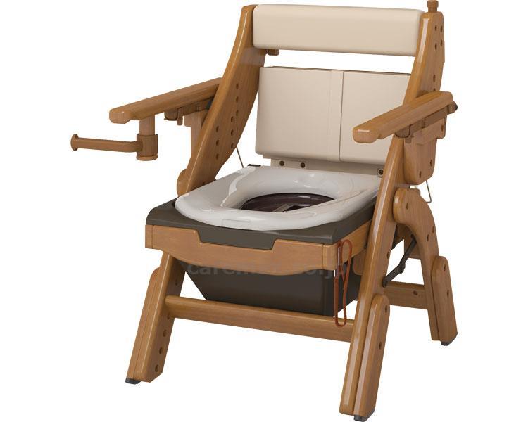 【在庫処分】折りたたみ家具調トイレ ソフト便座 / 533-831 アロン化成 1台 JAN4970210858554