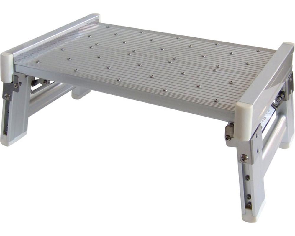 ユニバステップコンパクトH180 脚部折り畳み式シルバー JAN4530770602761