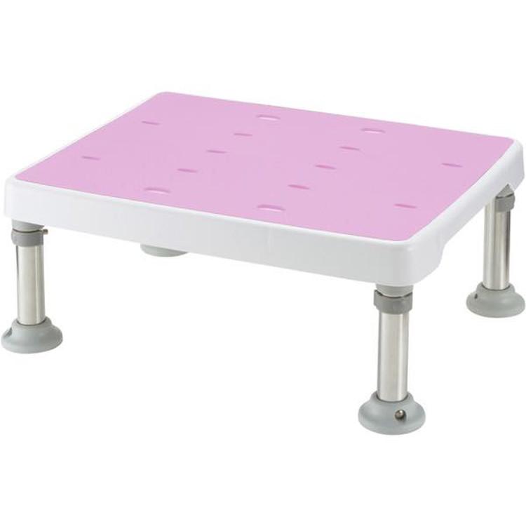 浴そう台高さ調節付 すべり止めM型 ピンク JAN4973655189214