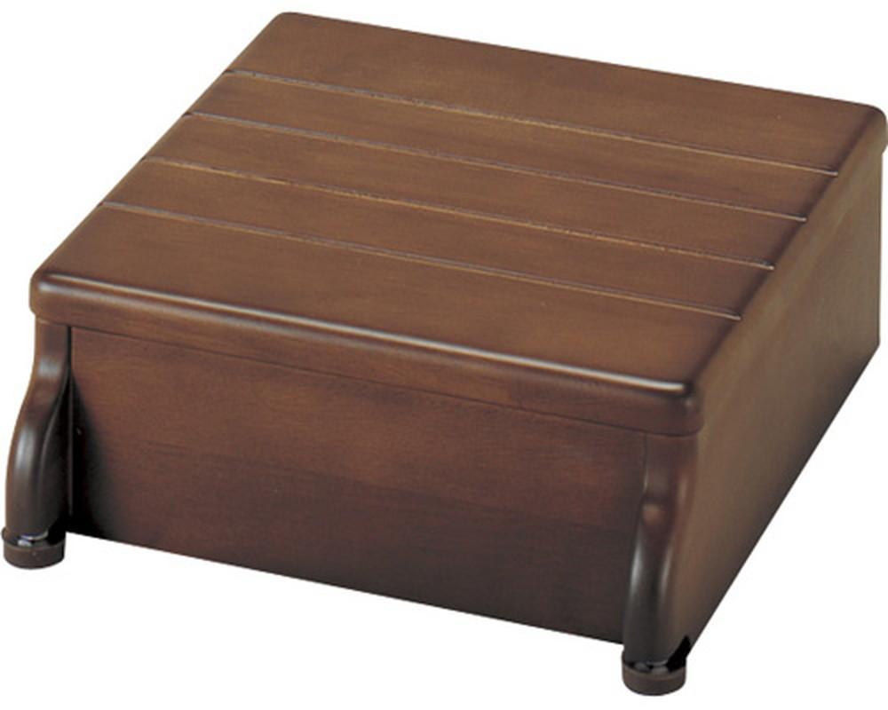 安寿 木製玄関台 1段タイプ 30W-30-1段 / 535-540 ブラウン アロン化成 1台