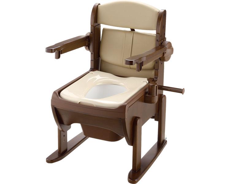 木製きらく 片付け簡単トイレ 肘掛跳ね上げ / 19224 普通便座 リッチェル 1台 JAN4973655192245