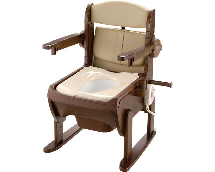 木製きらく 片付け簡単トイレ 肘掛跳ね上げ / 19226 暖房便座 リッチェル 1台 JAN4973655192269