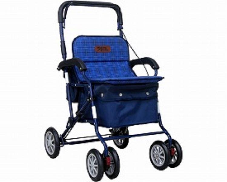 【在庫処分】アルミ製シルバーカー / PW-298 ネイビー JAN4938765852984