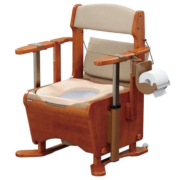 【数量限定】 家具調トイレ座楽アウポット ひじ掛け昇降 ソフト便座 1台