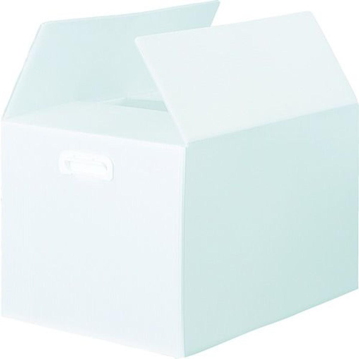取っ手穴なし 半透明 ダンボールプラスチックケース 1S 5枚セット TRUSCO B3サイズ