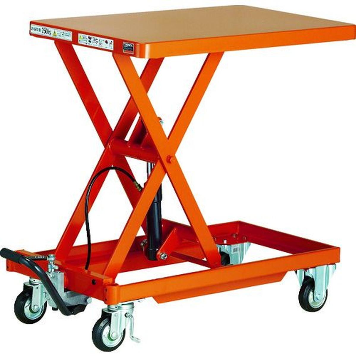 値頃 TRUSCO 作業台リフター 500kg 600X900 ハンドルレス 1台, 愉悦良品館 1557f951