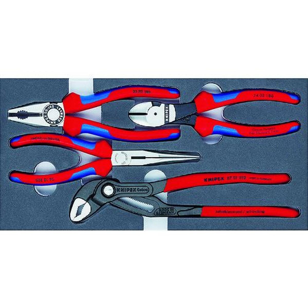 あす楽対応 100%品質保証! DIY用品 KNIPEX 002001V15 プライヤーセット 安値 ウレタントレイ入り 1S