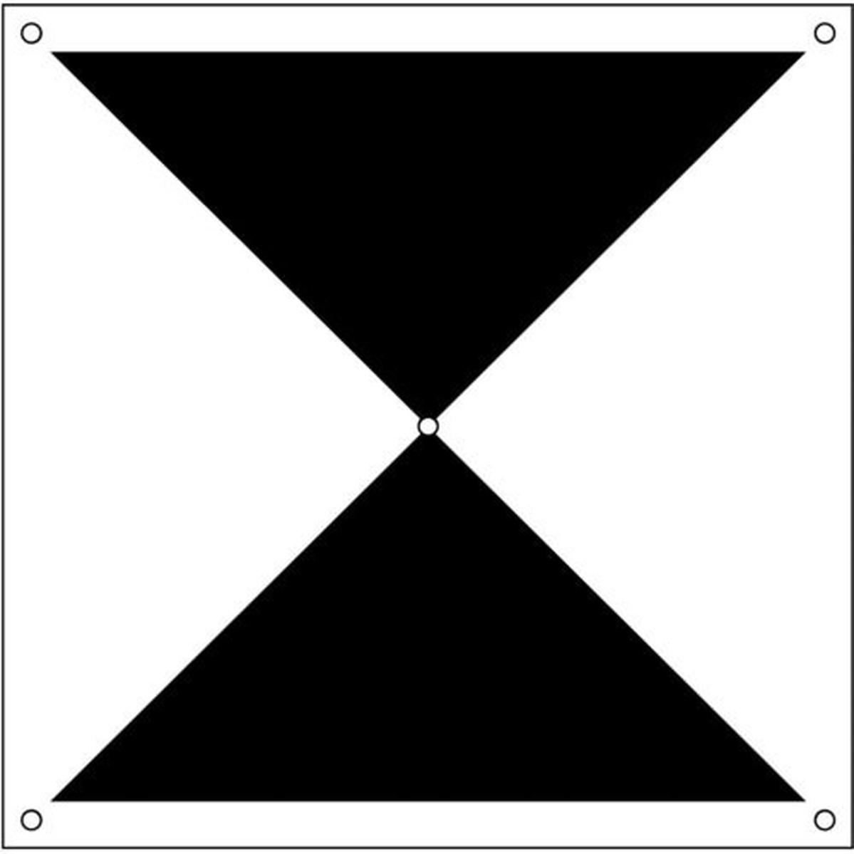 あす楽対応 DIY用品 グリーンクロス ドローン用対空標識X型 1枚 激安通販 開店記念セール 6300001176