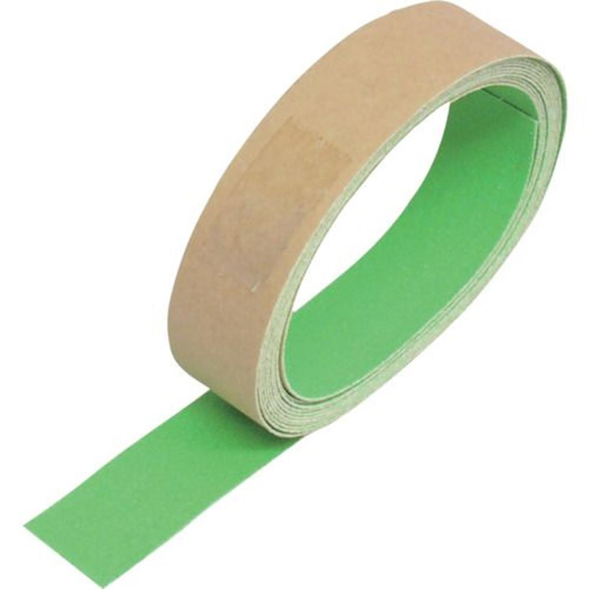 あす楽対応 DIY用品 TRUSCO 蛍光ノンスリップテープ 全国どこでも送料無料 25mmX3m 屋外用 1巻 緑 驚きの値段で