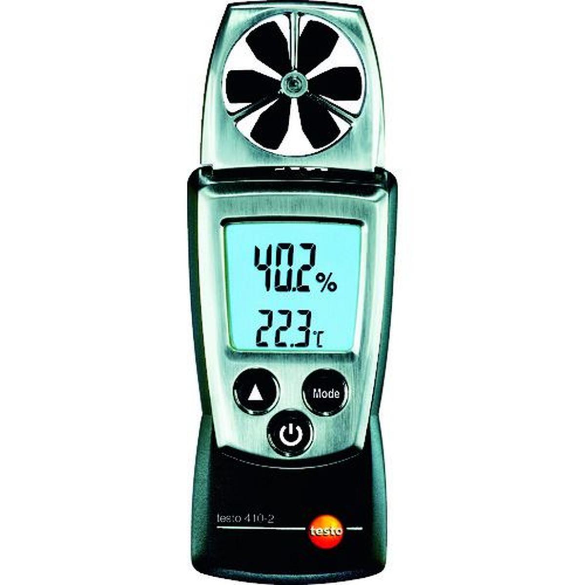 あす楽対応 DIY用品 ※ラッピング ※ テストー 1個 当店は最高な サービスを提供します ポケットラインベーン式風速計 TESTO410-2温湿度計付