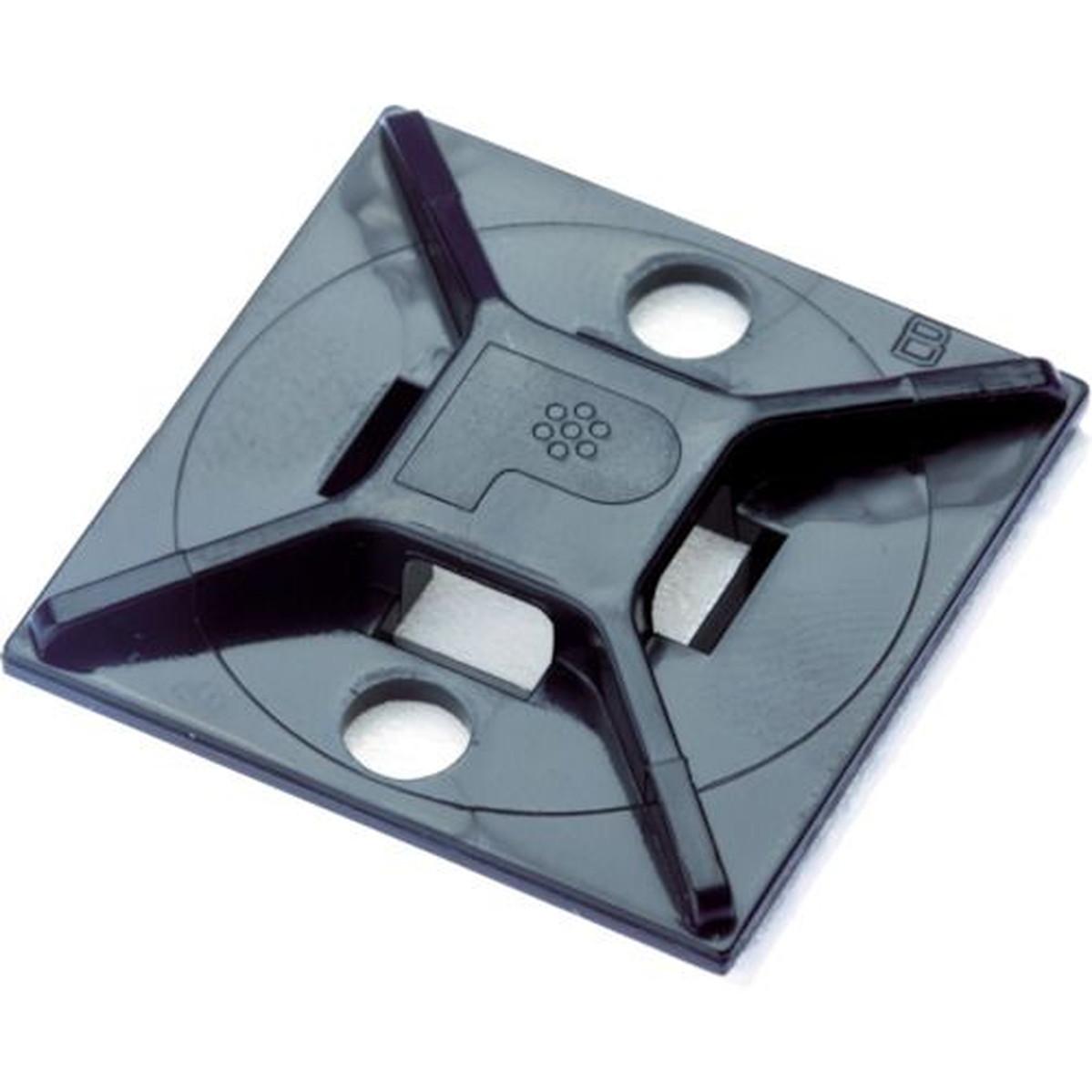 <title>あす楽対応 DIY用品 パンドウイット マウントベース 高級 アクリル系粘着テープ付き 耐候性黒 500個入 1袋</title>