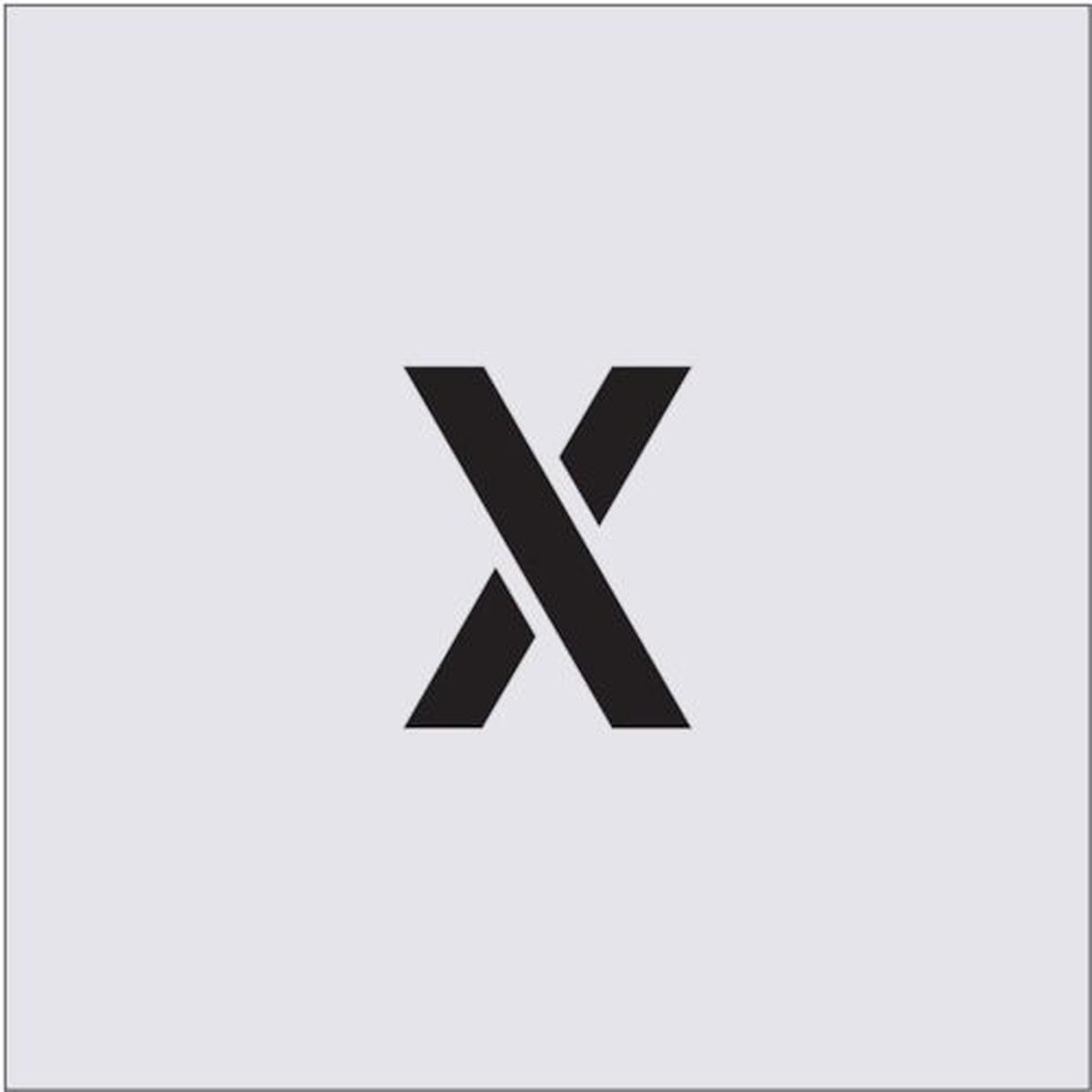 あす楽対応 専門店 正規取扱店 DIY用品 IM ステンシル 文字サイズ50×40mm 1枚 X