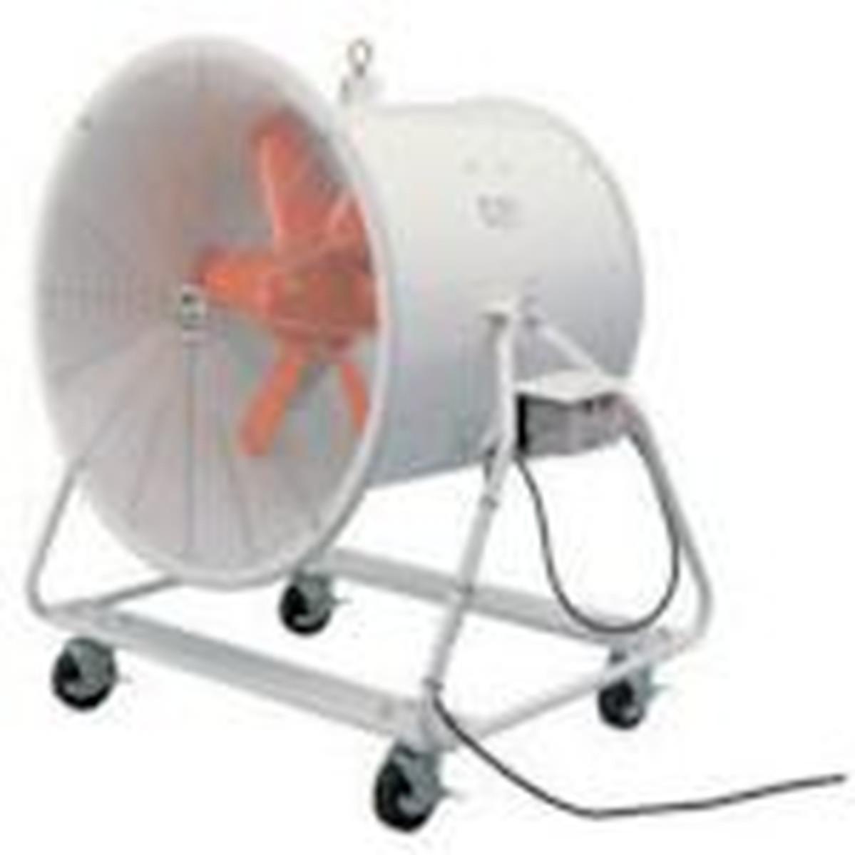 どでかファン スイデン 送風機 ハネ径710mm 角度調節可能 1台 三相200V 4輪キャスター付