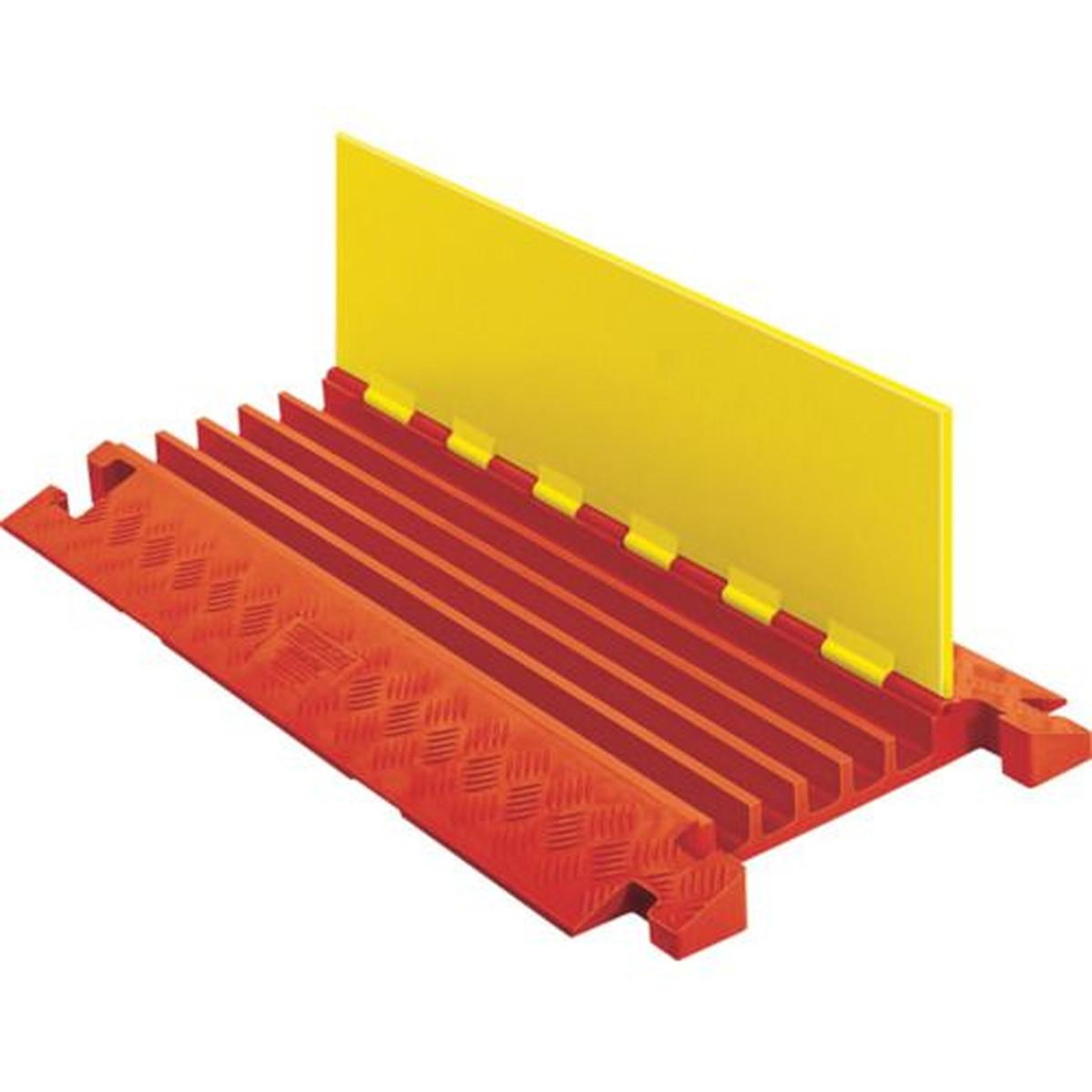 CHECKERS レール ラインバッカーケーブルプロテクタ 重量型電線5本用 1本 (CPRL-4/5-Y)