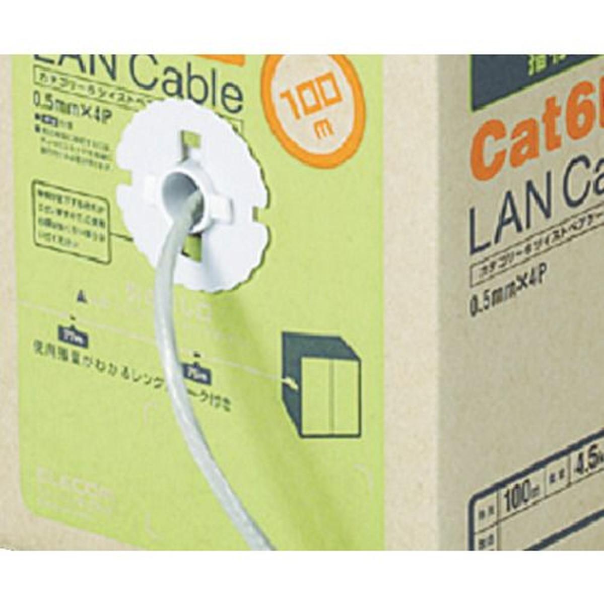 チープ あす楽対応 DIY用品 エレコム ついに再販開始 1箱 EURoHS指令準拠LANケーブル100mリール巻ライトグレー