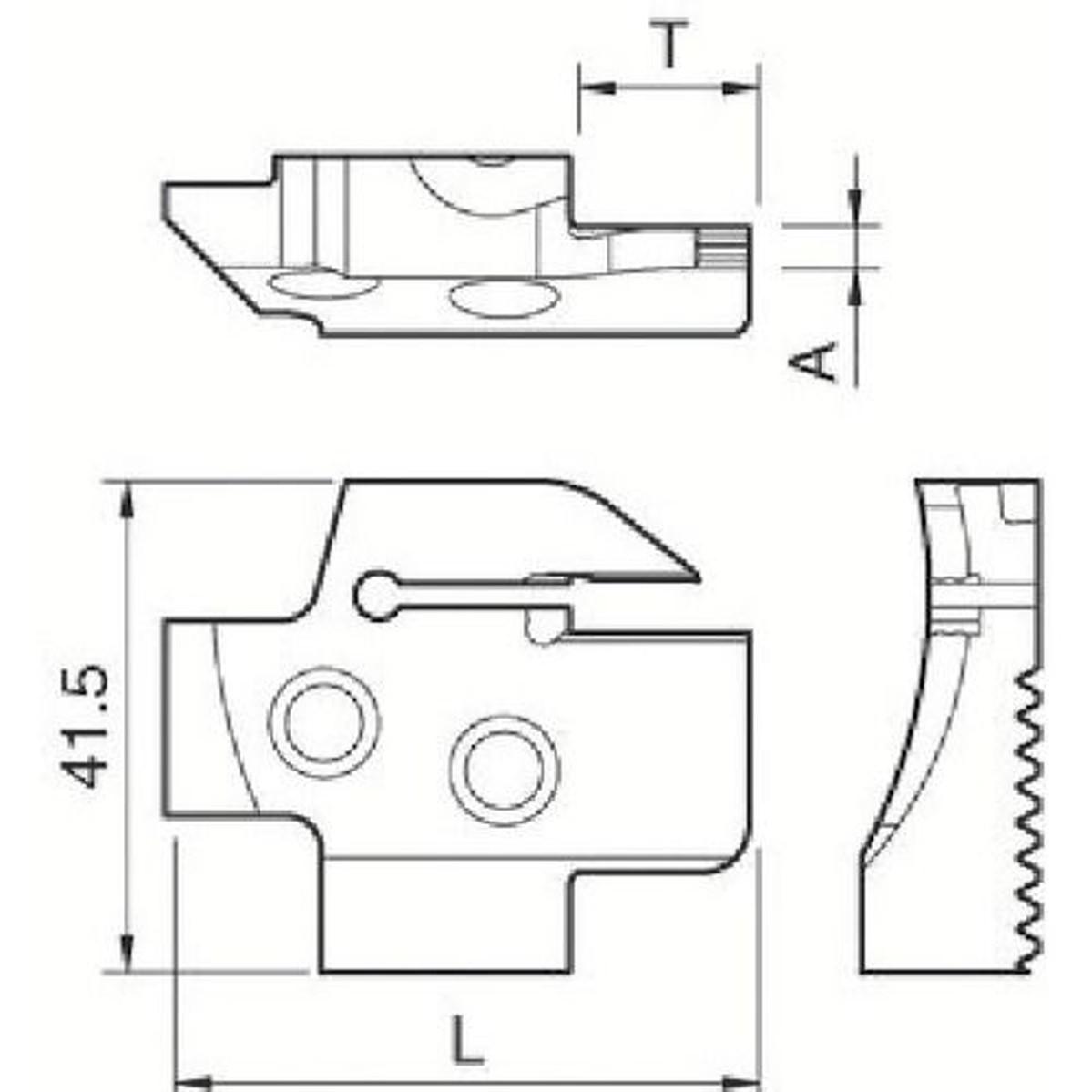 あす楽対応 DIY用品 出色 最安値挑戦 京セラ 溝入れ用ホルダ 1本