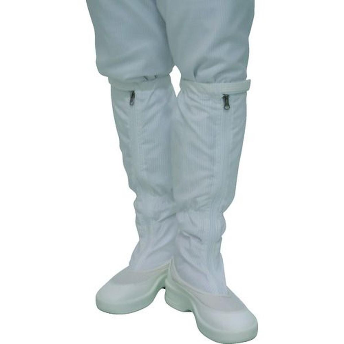 あす楽対応 DIY用品 ゴールドウイン 激安卸販売新品 ファスナー付ロングブーツ 1足 23.0cm ホワイト 贈物
