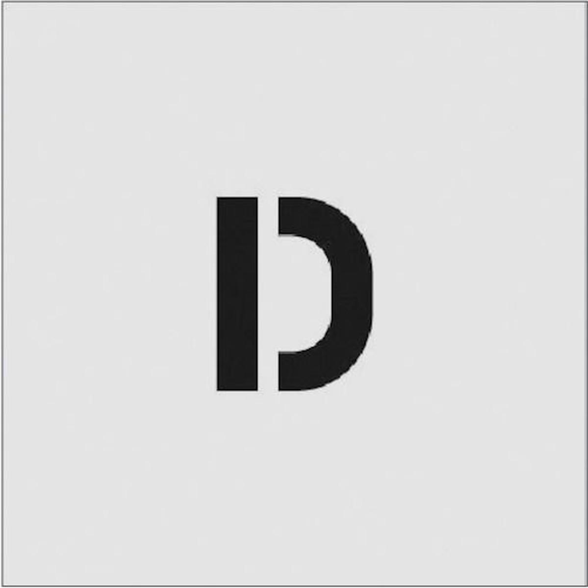 あす楽対応 DIY用品 IM ステンシル D 1枚 在庫一掃売り切りセール 文字サイズ50×40mm 贈与